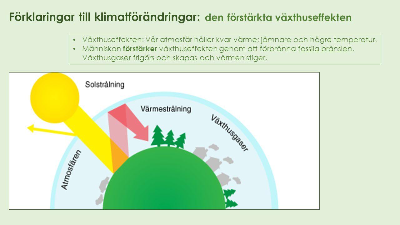 Förklaringar till klimatförändringar: klimatet är inte stabilt Klimatet har aldrig varit stabilt.