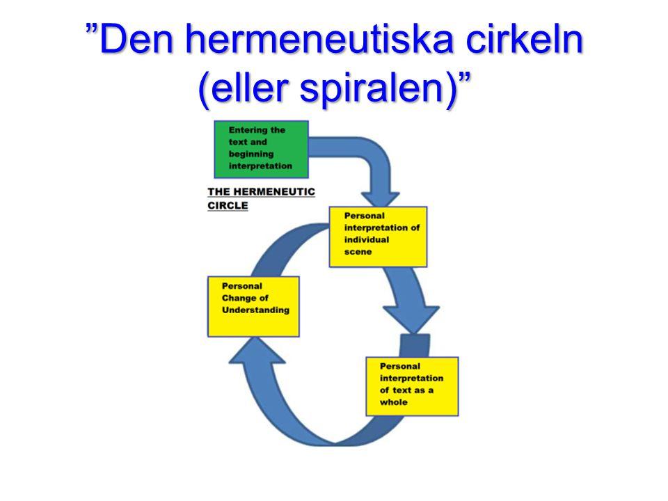 """""""Den hermeneutiska cirkeln (eller spiralen)"""""""