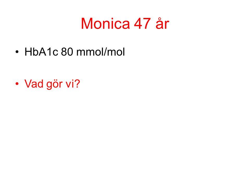 Monica 47 år HbA1c 80 mmol/mol Vad gör vi?