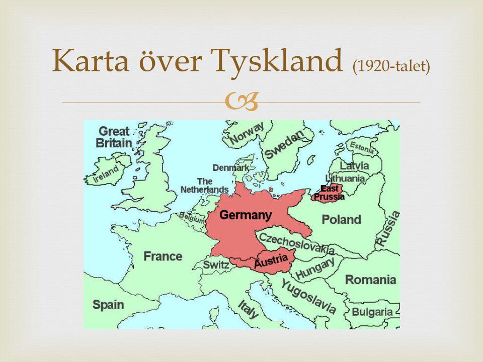  Karta över Tyskland (1920-talet)