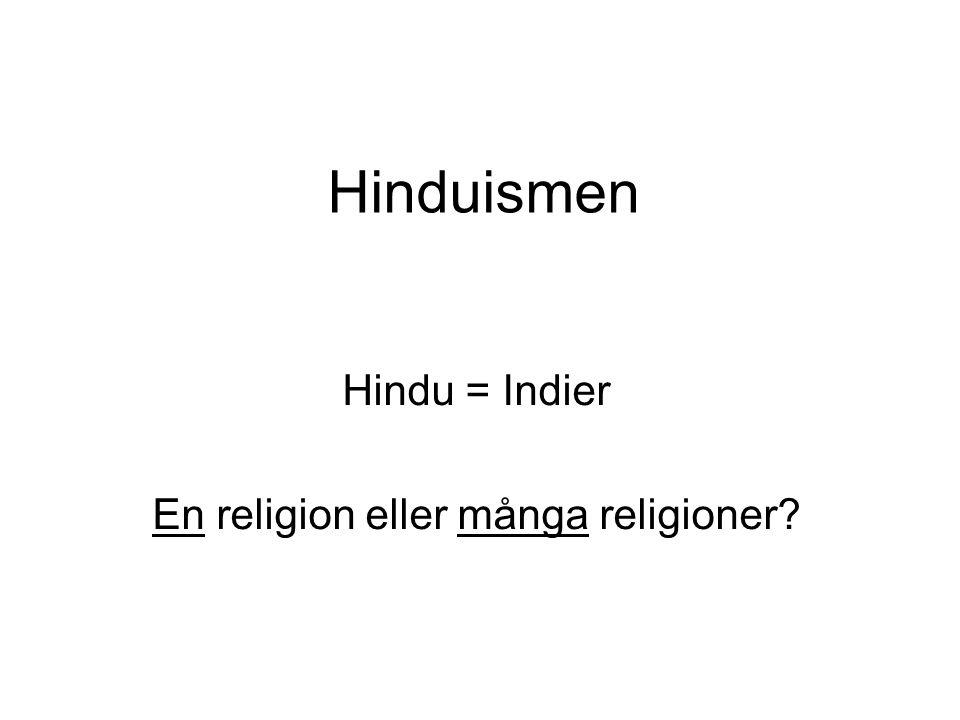 Hinduismen Hindu = Indier En religion eller många religioner?