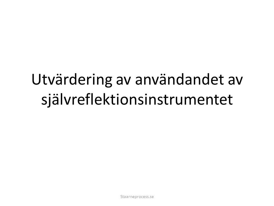 Utvärdering av användandet av självreflektionsinstrumentet Staarneprocess.se