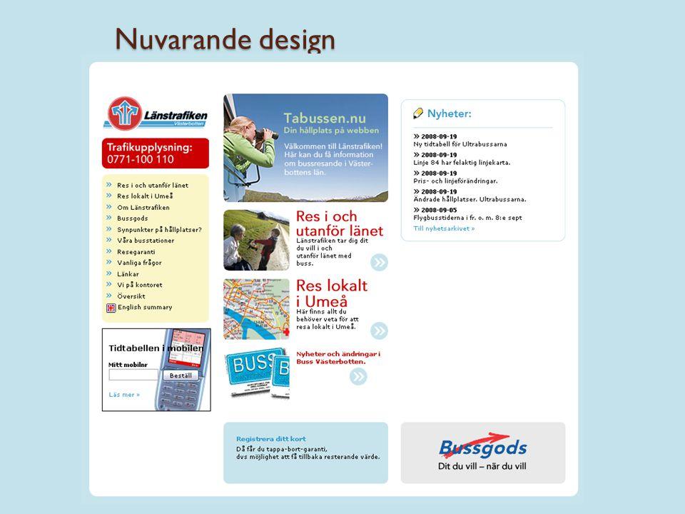 Nuvarande design