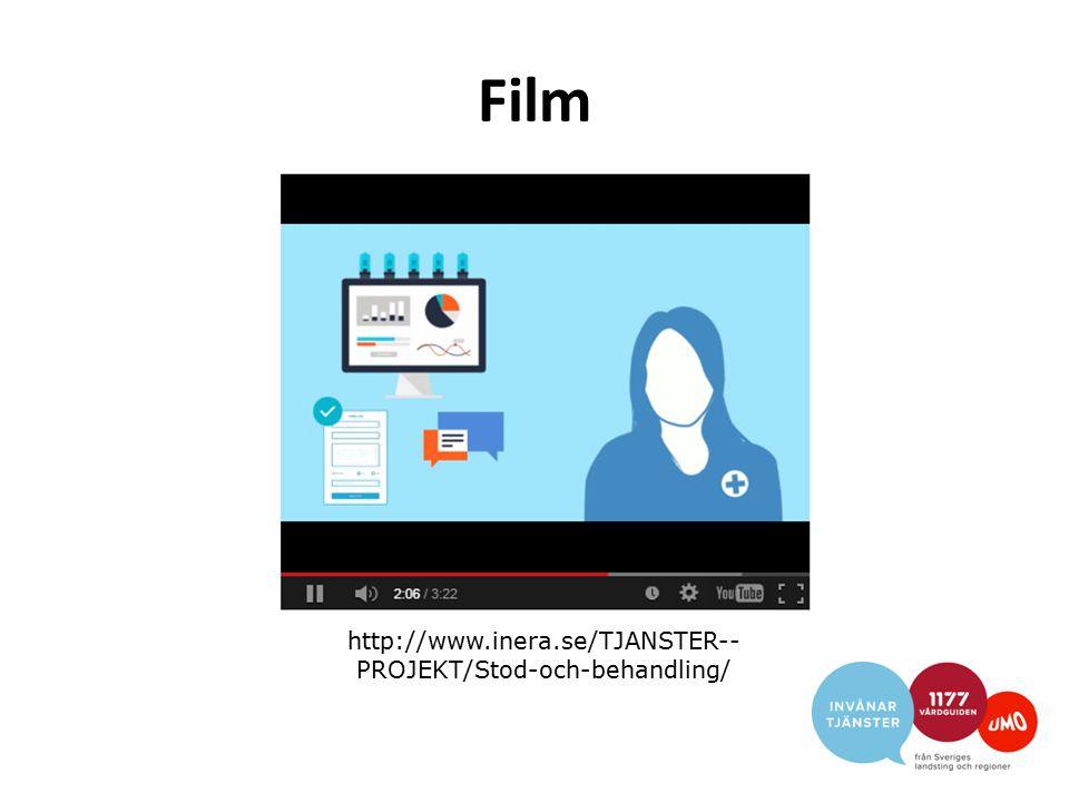 Film http://www.inera.se/TJANSTER-- PROJEKT/Stod-och-behandling/