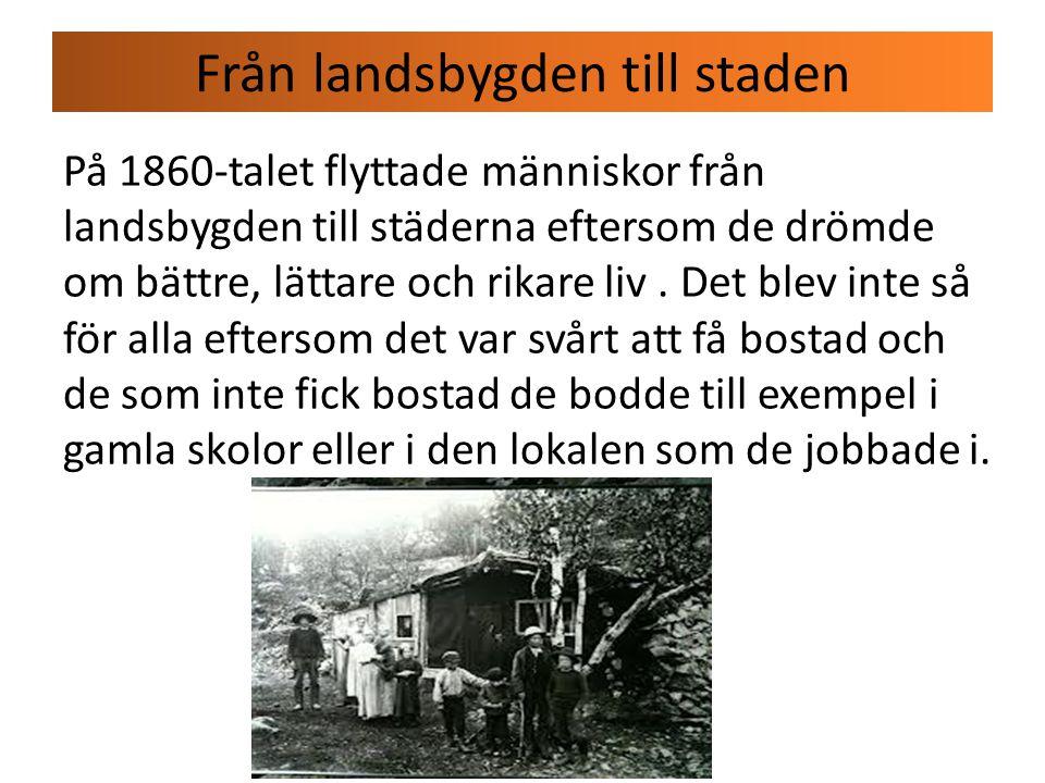 Fabrikerna på 1800-talet Människorna som arbetade i fabrikerna de jobbade 12 till 14 timmar per dag och de fick bara lite lön.