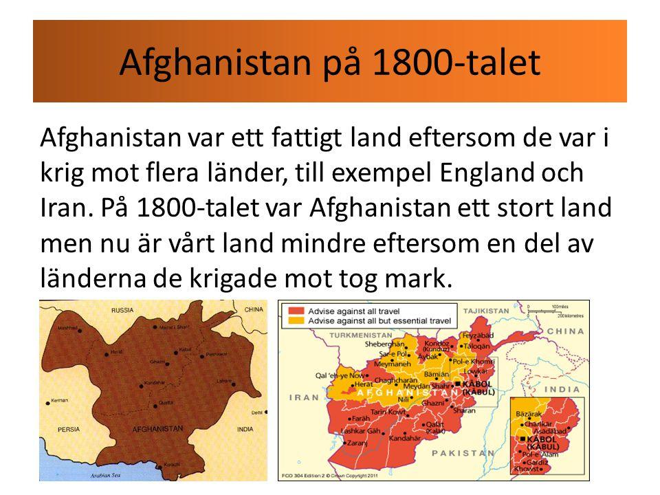 Industrialismen i Afghanistan I Afghanistan arbetade många människor med att göra hantverk.
