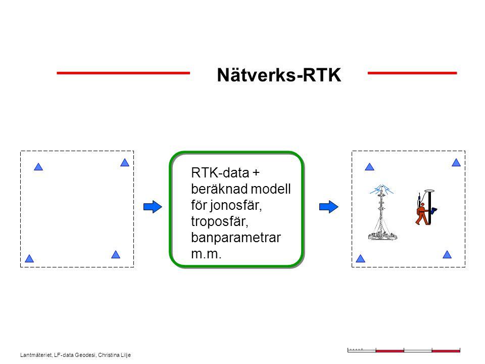 Lantmäteriet, LF-data Geodesi, Christina Lilje Nätverks-RTK + = Referensstation = Täckningsområde