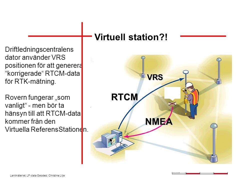 Lantmäteriet, LF-data Geodesi, Christina Lilje Rovermottagaren skickar sin ungefärliga position till SWEPOS driftlednings- central via GSM.