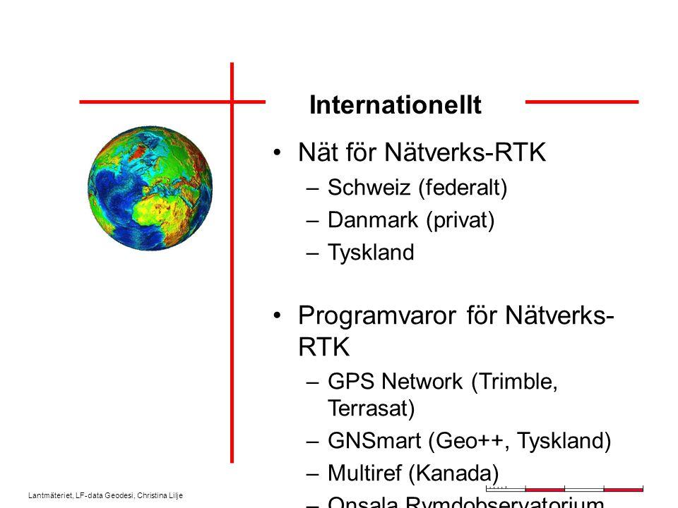 Lantmäteriet, LF-data Geodesi, Christina Lilje Nätverks-RTK-projekt - Position Stockholm - Mälaren - 2 - SKAN-RTK - Väst-RTK
