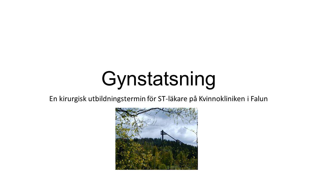 Gynstatsning En kirurgisk utbildningstermin för ST-läkare på Kvinnokliniken i Falun