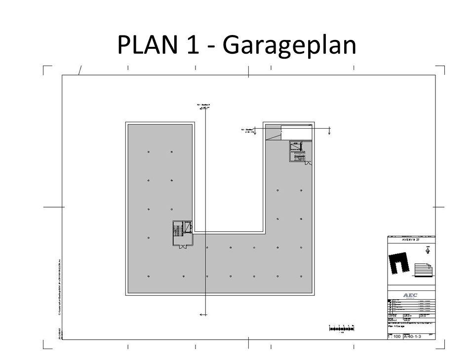 PLAN 1 - Garageplan
