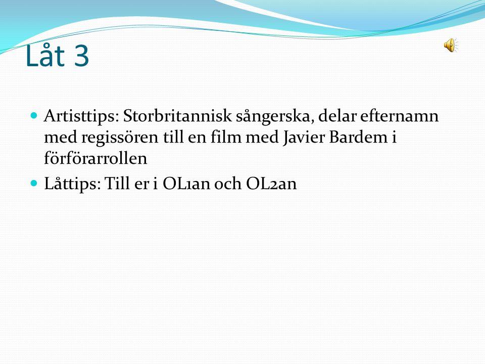 Låt 2 Artisttips: Svensk duo, släppt två skivor Låttips: Vår ras släpper tvunget loss