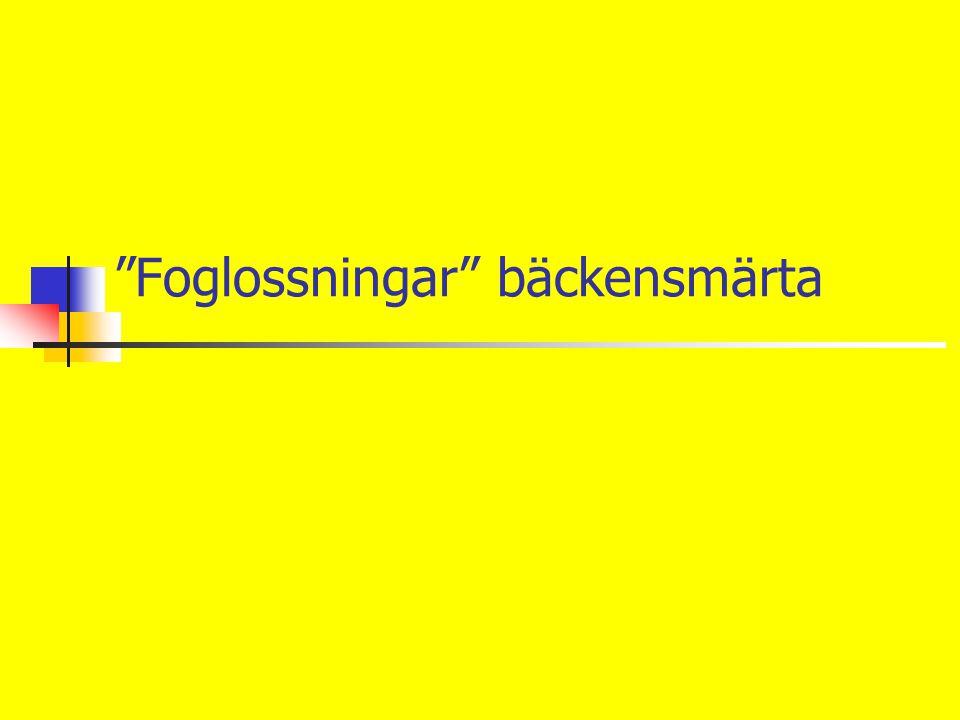 """""""Foglossningar"""" bäckensmärta"""