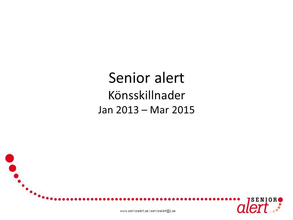 www.senioralert.se | senioralert@lj.se Senior alert Könsskillnader Jan 2013 – Mar 2015