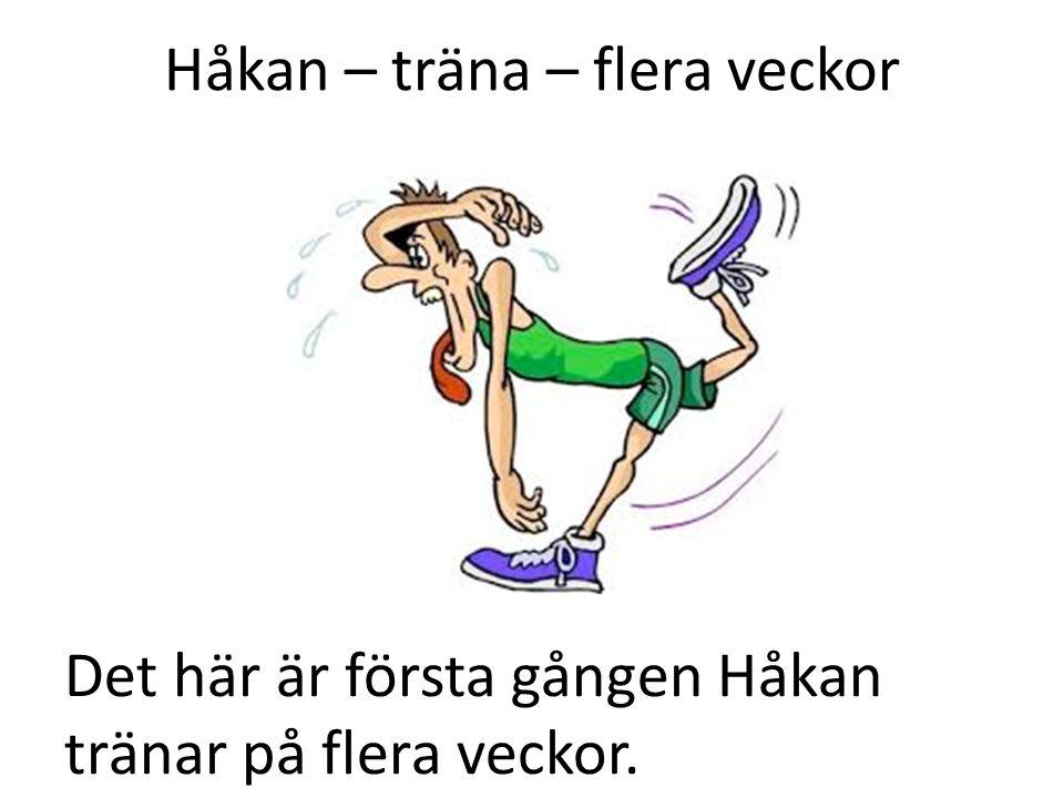 Håkan – träna – flera veckor Det här är första gången Håkan tränar på flera veckor.