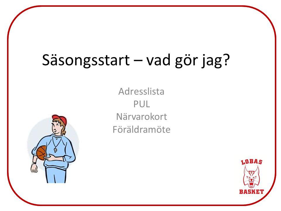 Klubben Jag Regler Mål Säsongsplan Lagledare