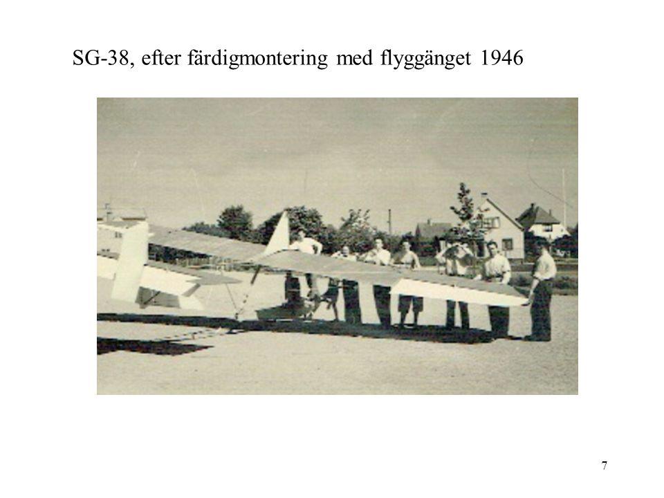 7 SG-38, efter färdigmontering med flyggänget 1946