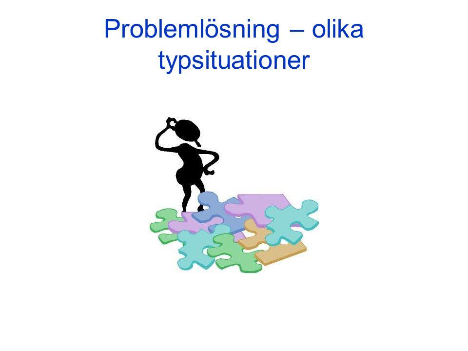 Problemlösning – olika typsituationer
