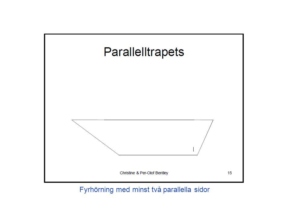 Fyrhörning med minst två parallella sidor