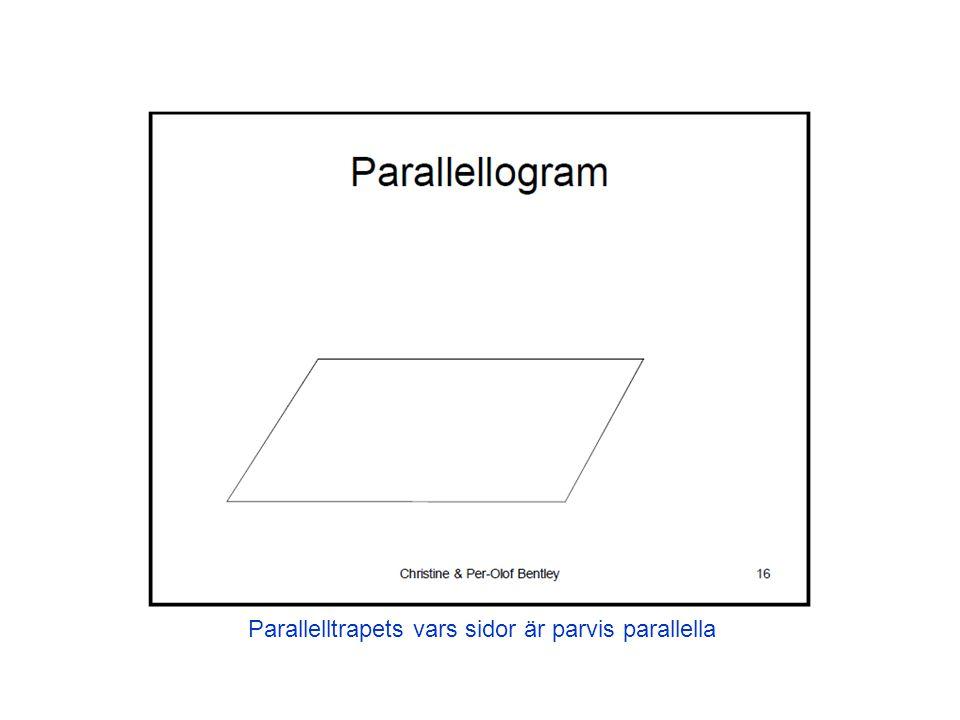 Parallelltrapets vars sidor är parvis parallella
