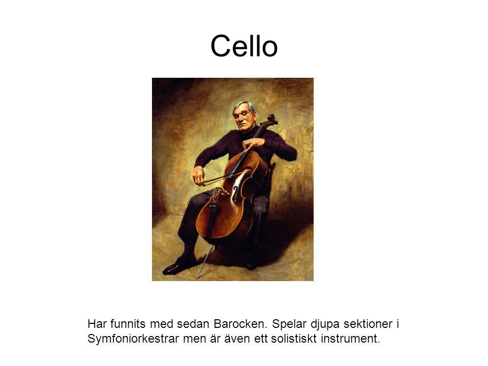 Cello Har funnits med sedan Barocken.