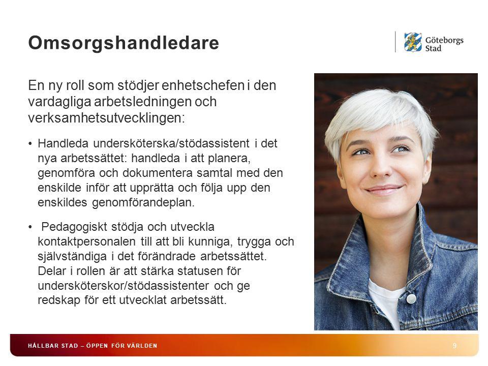 HÅLLBAR STAD – ÖPPEN FÖR VÄRLDEN 9 En ny roll som stödjer enhetschefen i den vardagliga arbetsledningen och verksamhetsutvecklingen: Handleda underskö