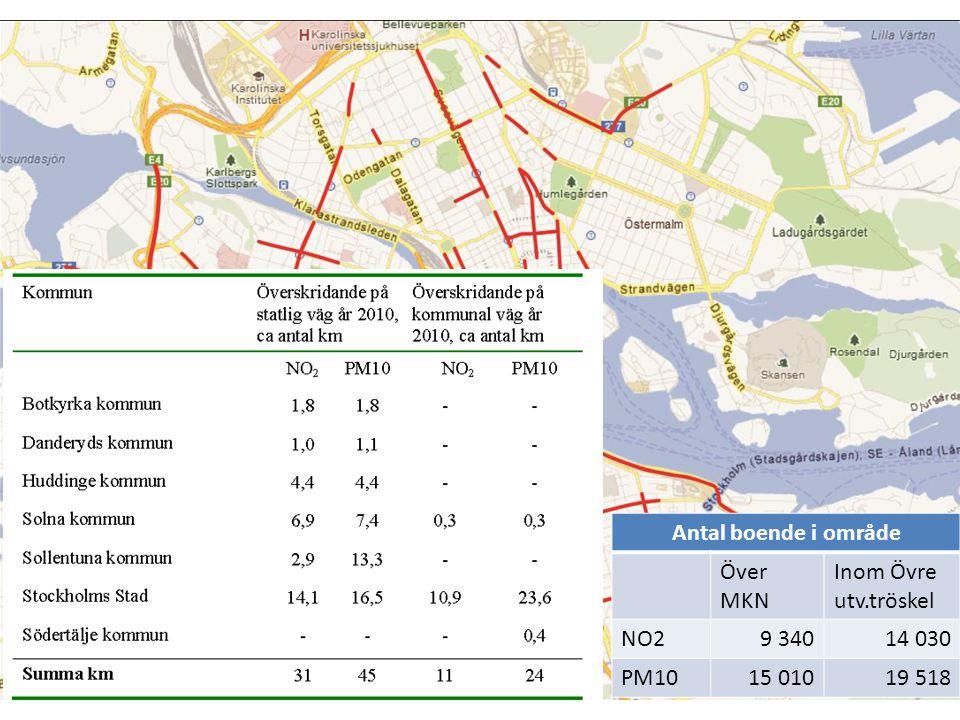 Antal boende i område Över MKN Inom Övre utv.tröskel NO29 34014 030 PM1015 01019 518