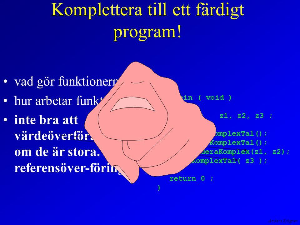 Anders Sjögren vad gör funktionerna. hur arbetar funktionerna.