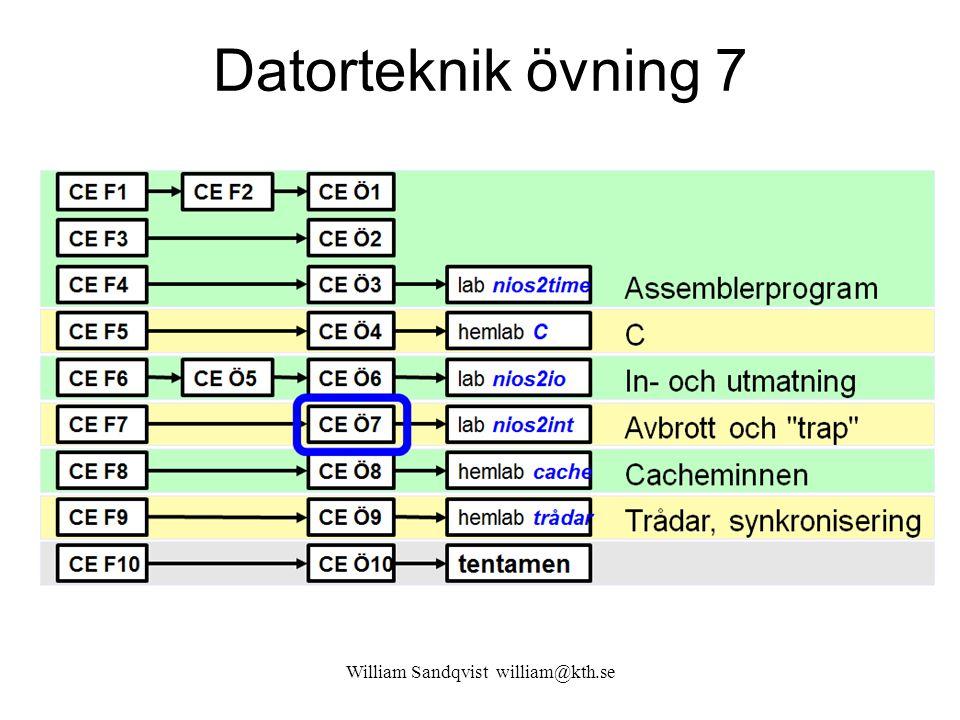 William Sandqvist william@kth.se 7.11 Vad gör Alteras Wrapper Altera gör således i stort sätt som vi ….