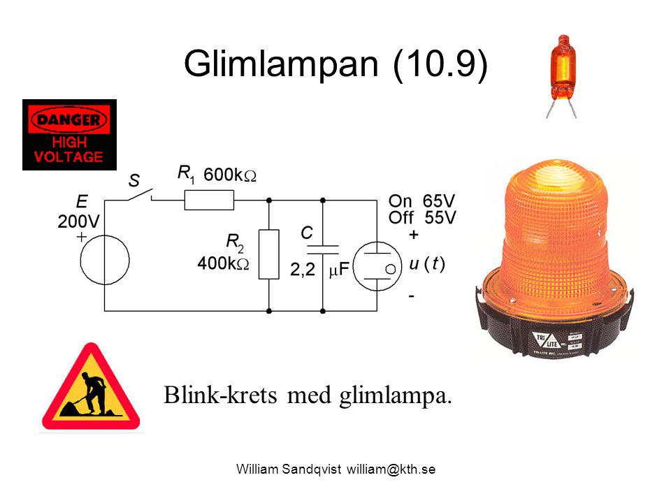 Glimlampan (10.9) Blink-krets med glimlampa.