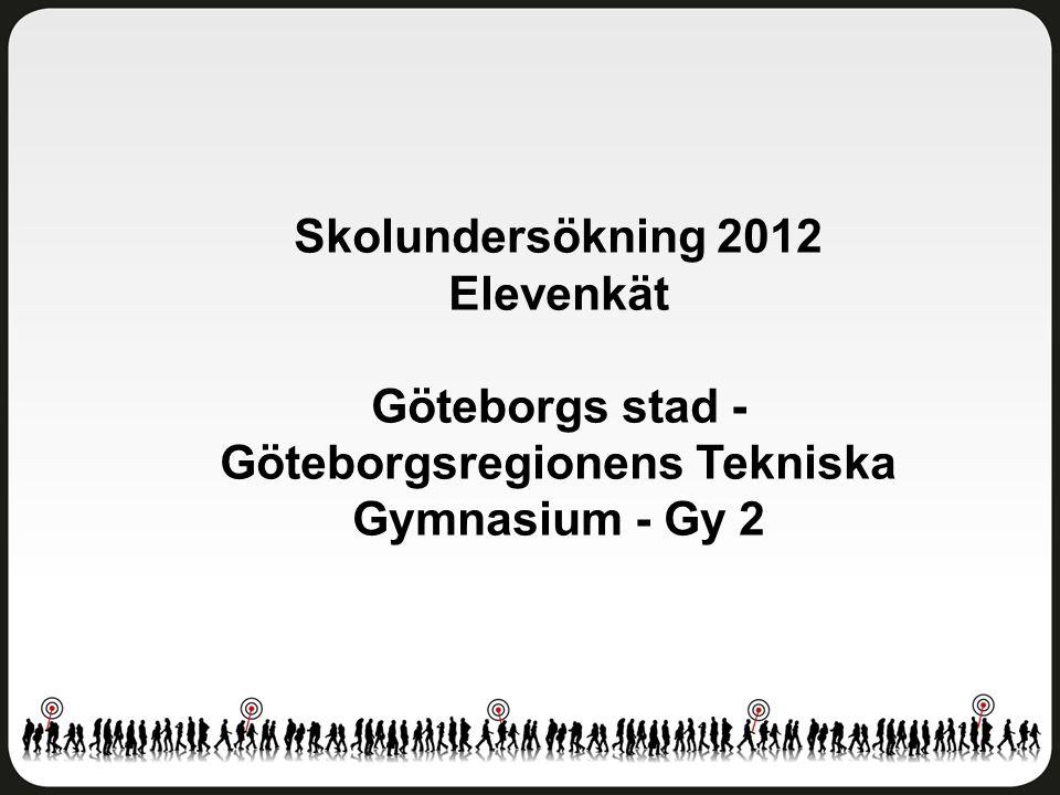 Skolundersökning 2012 Elevenkät Göteborgs stad - Göteborgsregionens Tekniska Gymnasium - Gy 2