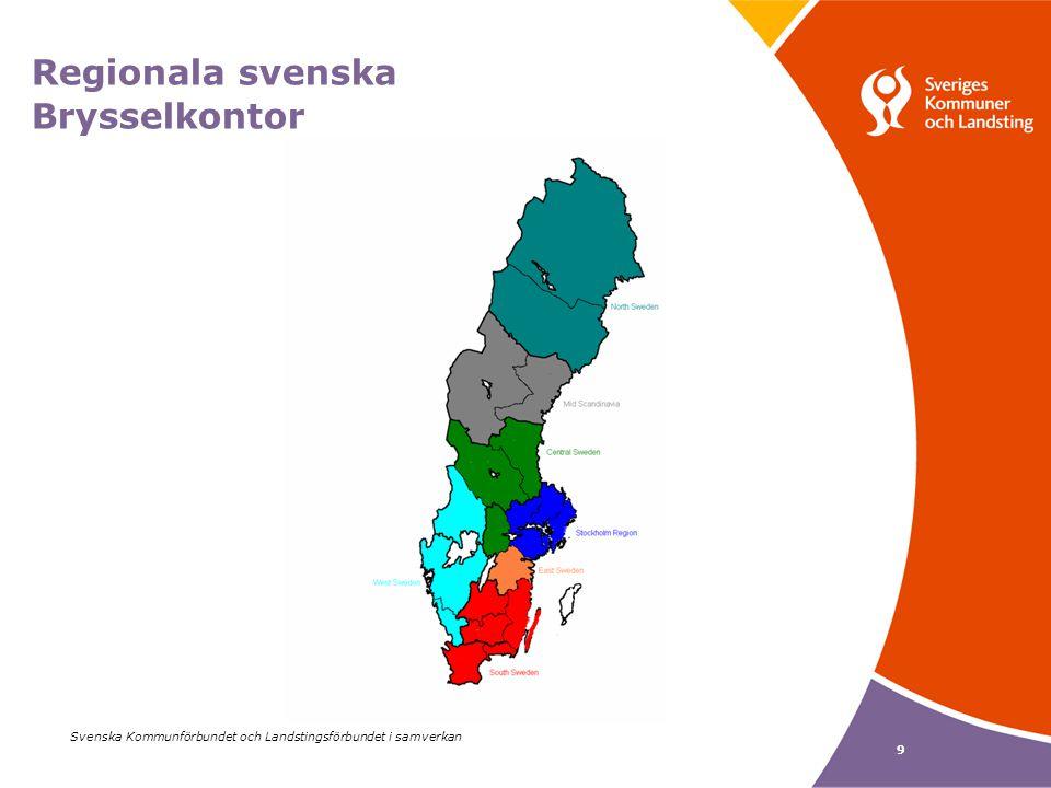 9 Regionala svenska Brysselkontor