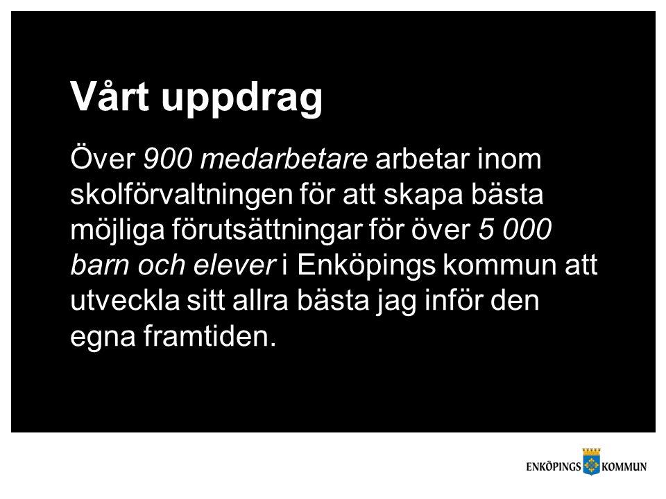 Vårt uppdrag Över 900 medarbetare arbetar inom skolförvaltningen för att skapa bästa möjliga förutsättningar för över 5 000 barn och elever i Enköping