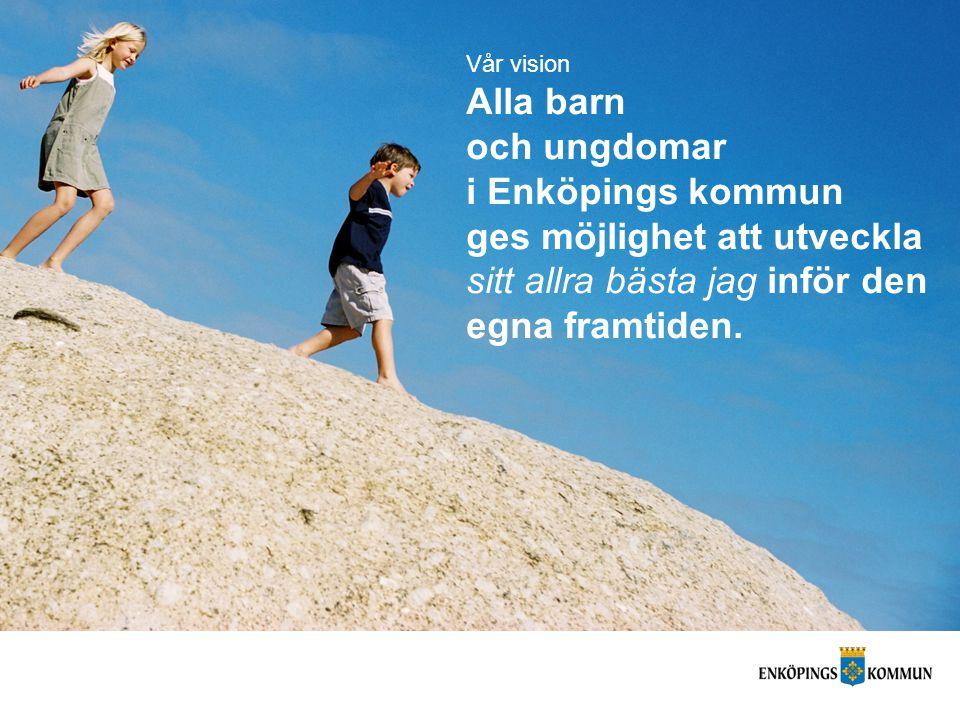 Vår vision Alla barn och ungdomar i Enköpings kommun ges möjlighet att utveckla sitt allra bästa jag inför den egna framtiden.