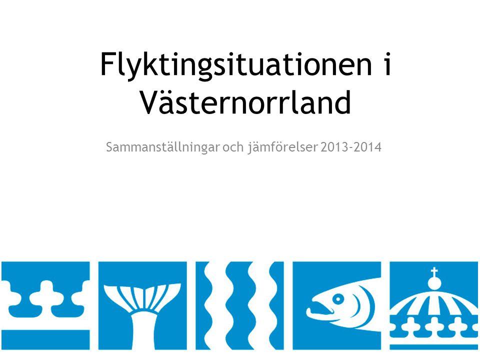 Flyktingsituationen i Västernorrland Sammanställningar och jämförelser 2013-2014