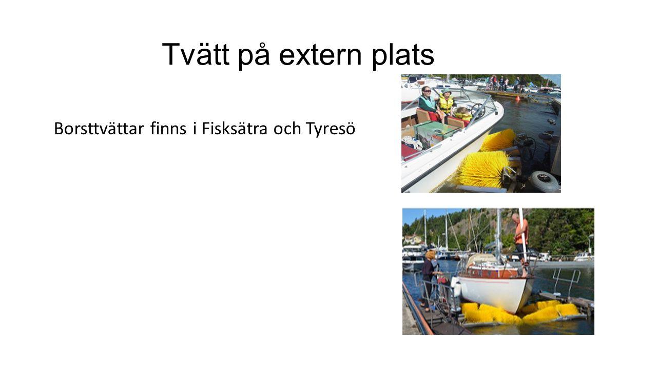 Tvätt på extern plats Borsttvättar finns i Fisksätra och Tyresö