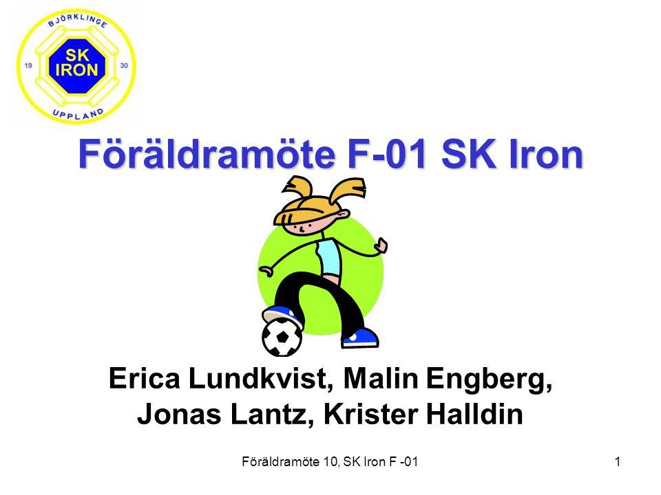 Föräldramöte 10, SK Iron F -011 Föräldramöte F-01 SK Iron Erica Lundkvist, Malin Engberg, Jonas Lantz, Krister Halldin