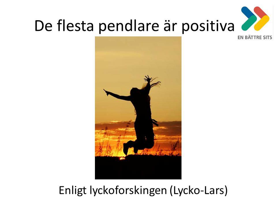 De flesta pendlare är positiva Enligt lyckoforskingen (Lycko-Lars)