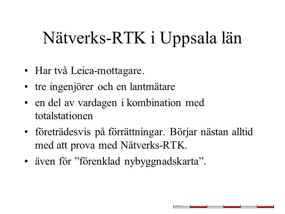 Nätverks-RTK i Uppsala län Har två Leica-mottagare.
