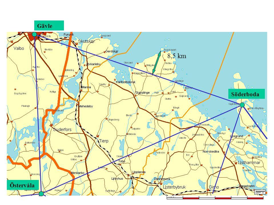 8,5 km Östervåla Söderboda Gävle