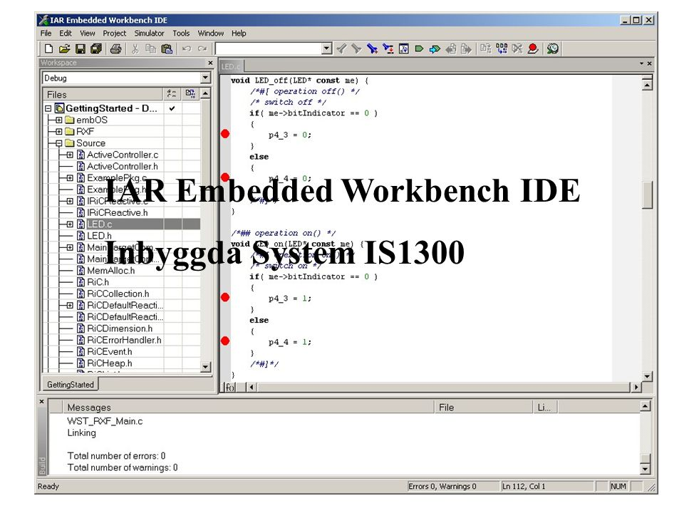 IAR Embedded Workbench IDE Inbyggda System IS1300