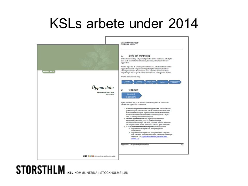 KSLs arbete under 2014