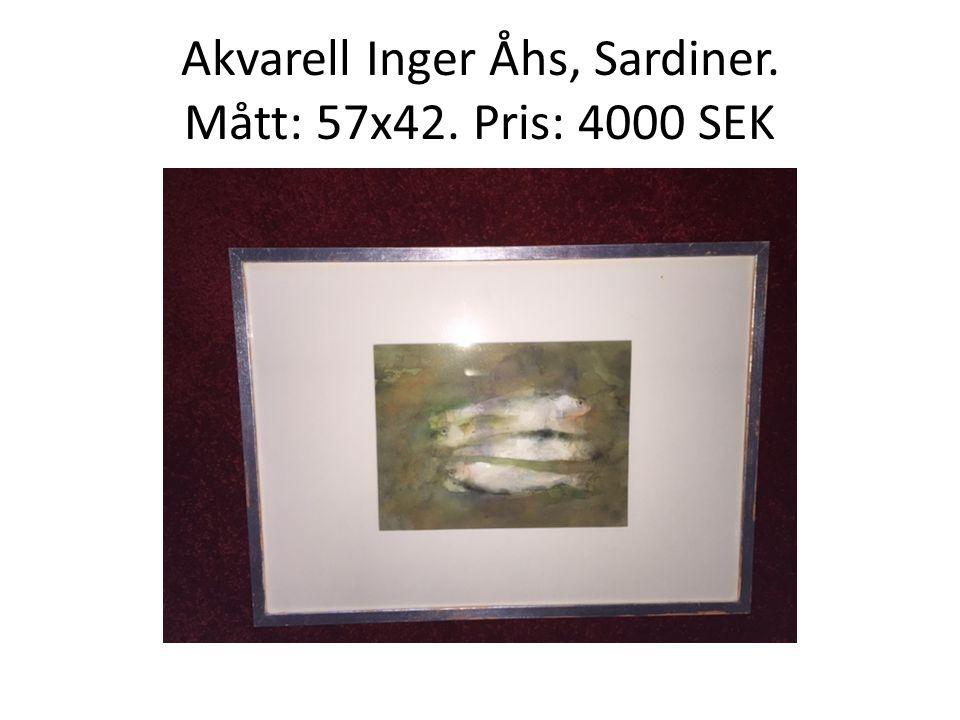 Akvarell Inger Åhs, Sardiner. Mått: 57x42. Pris: 4000 SEK