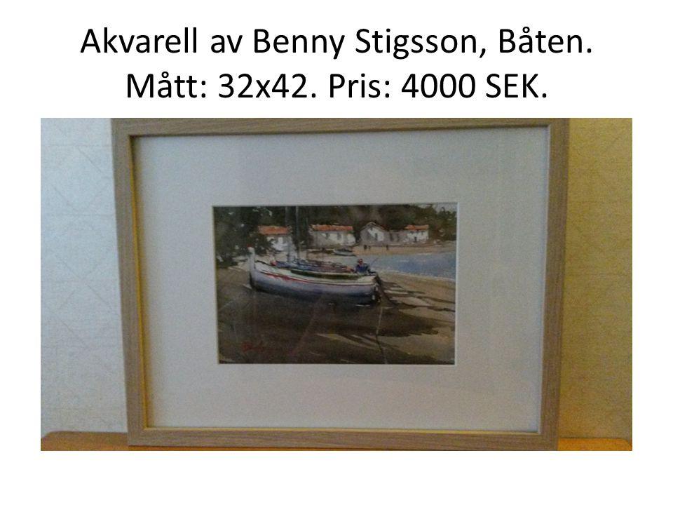 Akvarell av Karin Ramqvist Nordin, Bocktrave. Mått: 32x42. Pris: 1500 SEK.