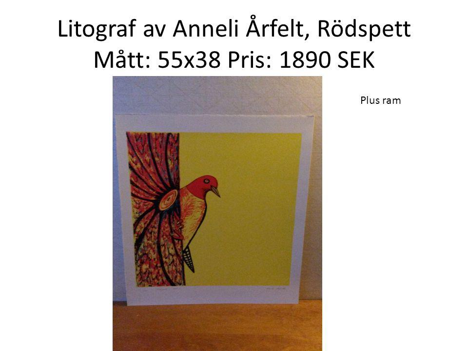 Akvarell av Birgitta Ekdahl, Dartmoreheden England. Mått: 42x32. Pris: 1500 SEK
