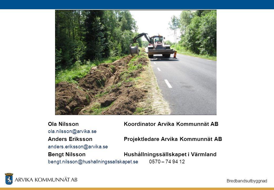 20150211 ARVIKA KOMMUNNÄT AB Bildat våren 2014 Uppdrag: Att skapa en öppen fiberbaserad kommunikation i Arvika kommun.