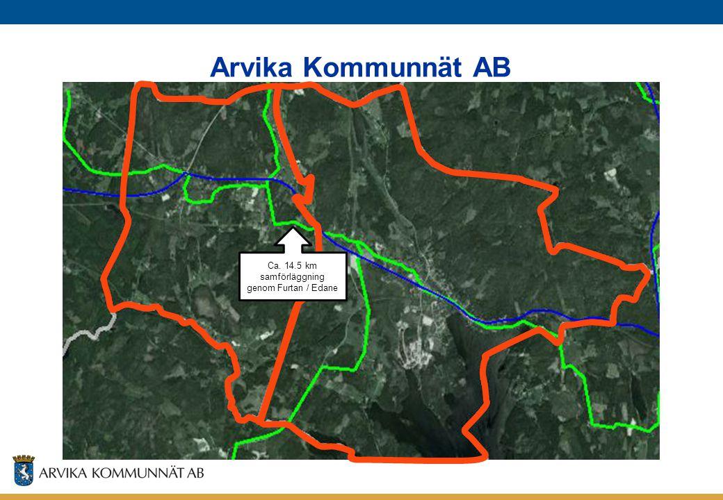 Arvika Kommunnät AB Ca. 14.5 km samförläggning genom Furtan / Edane