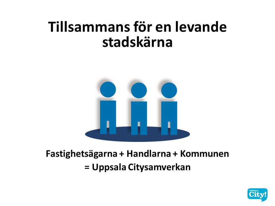 Tillsammans för en levande stadskärna Fastighetsägarna + Handlarna + Kommunen = Uppsala Citysamverkan