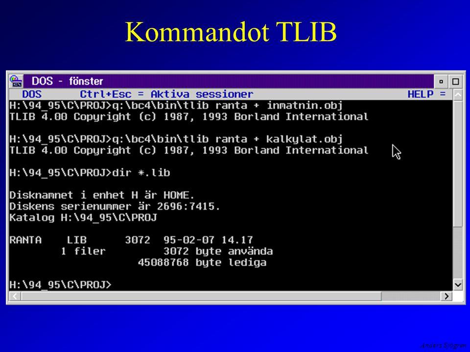 Anders Sjögren Kommandot TLIB