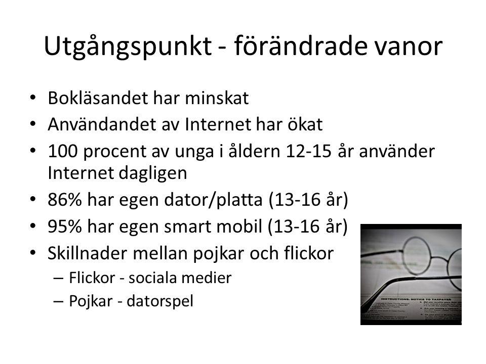 IT-kompetens Hantera apparaten Förmåga att hantera webbläsaren/mjukva ra Kunskap om konventioner hos webbadresser